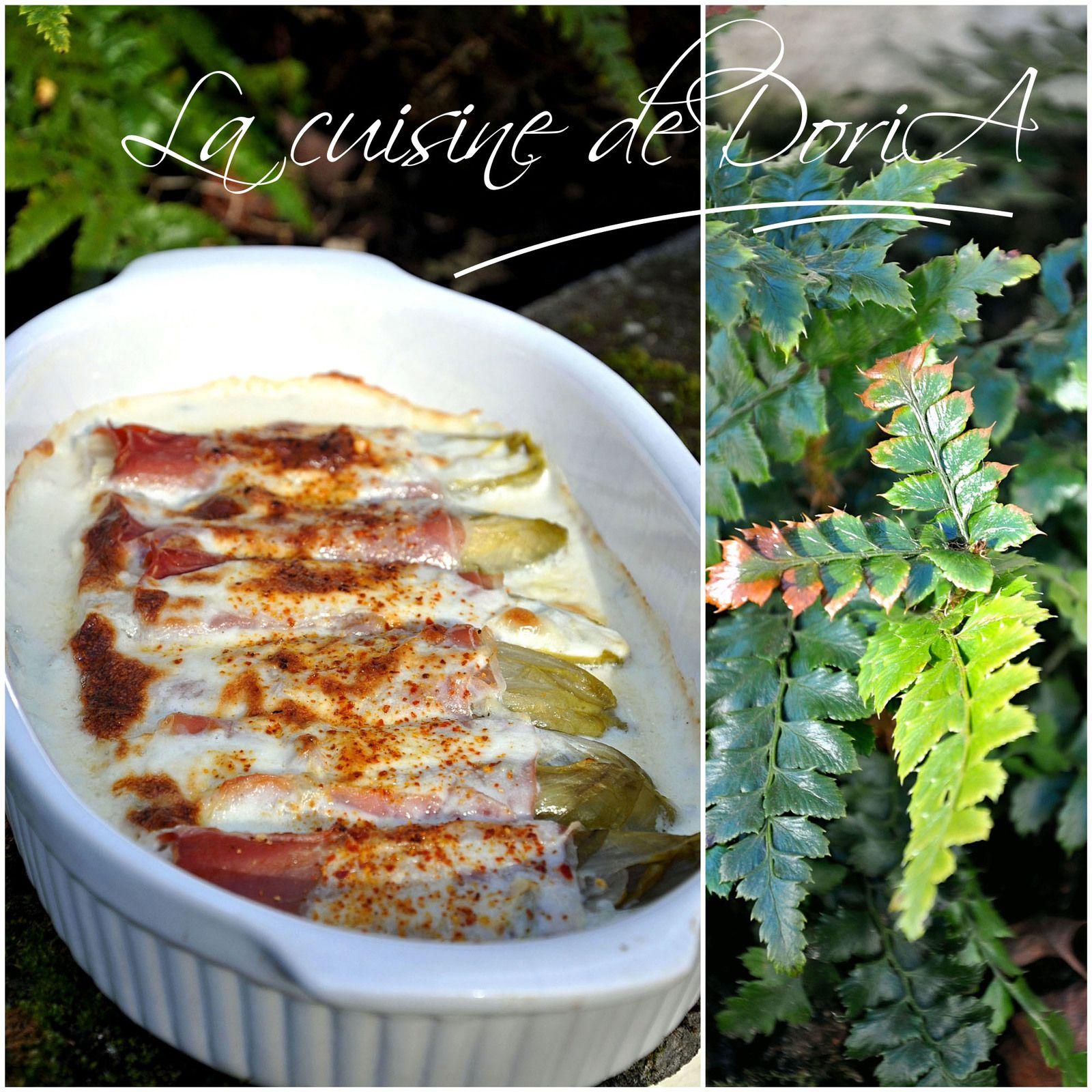 Endives au jambon Serrano et Gorgonzola