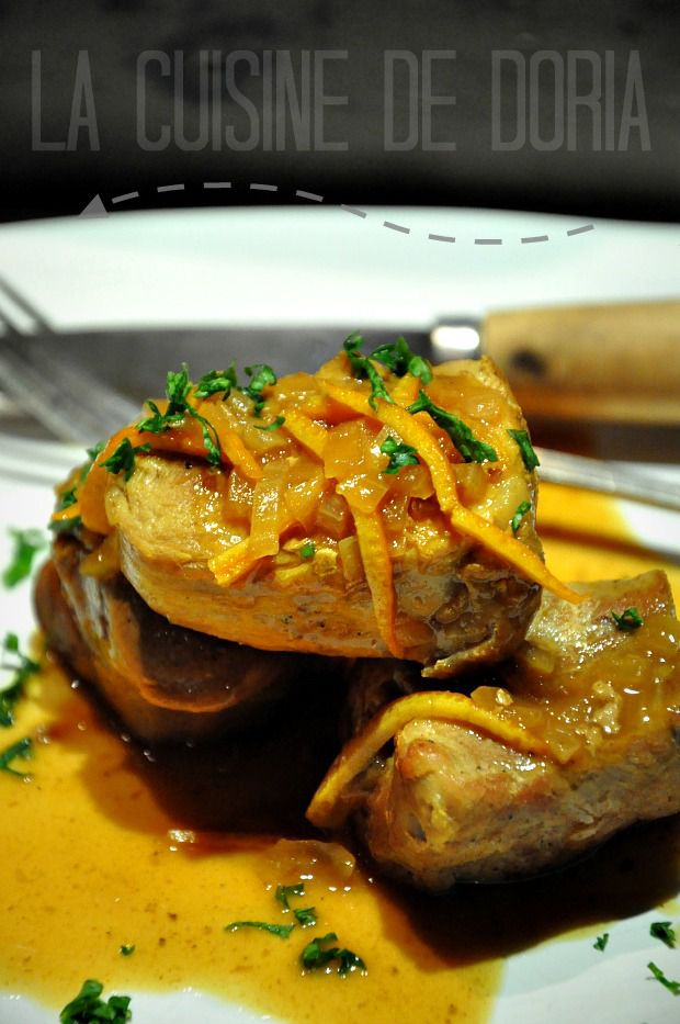 Médaillons de filet mignon à l'orange et curcuma, purée de patate douce