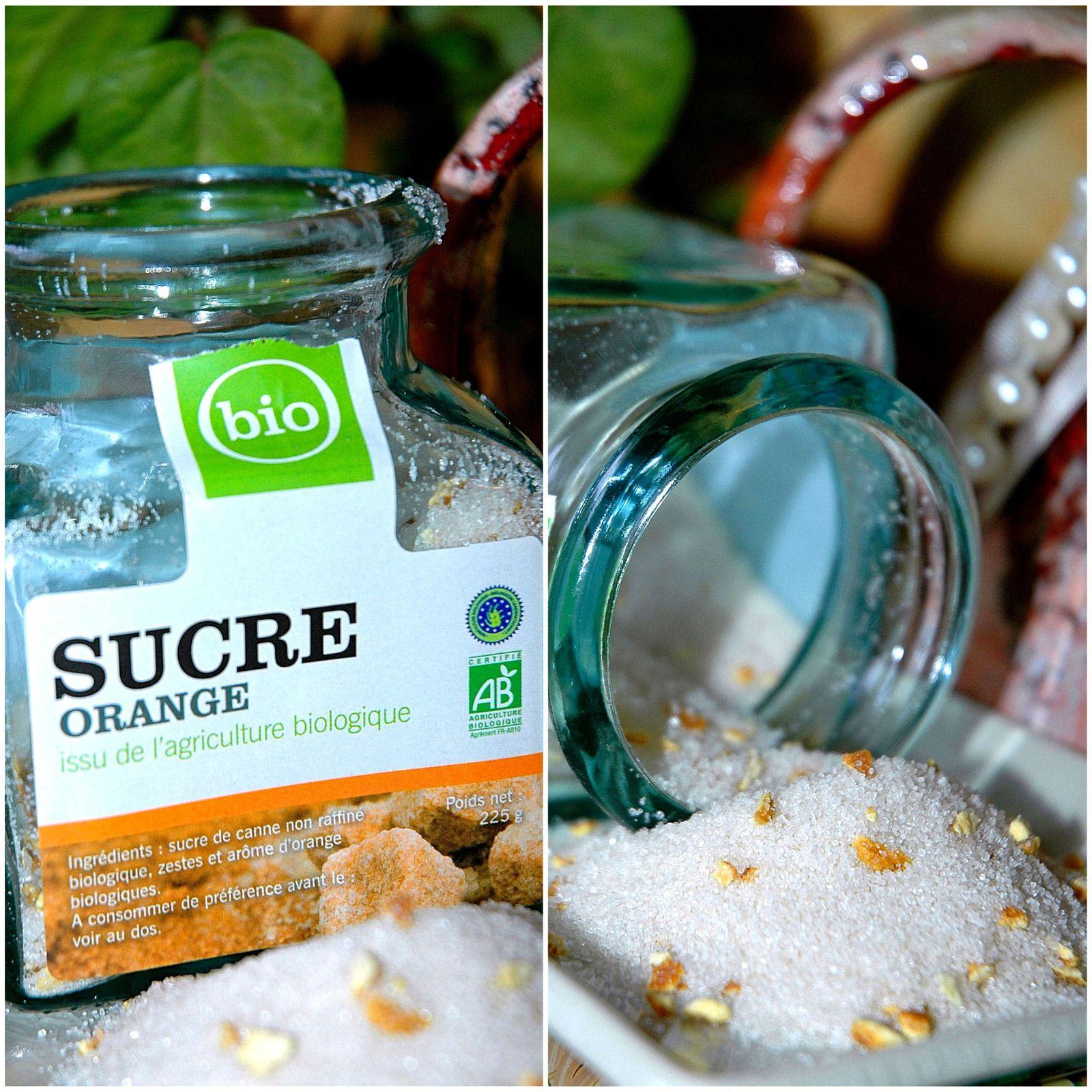 Brioche au sucre à l'orange Bio et oranges confites