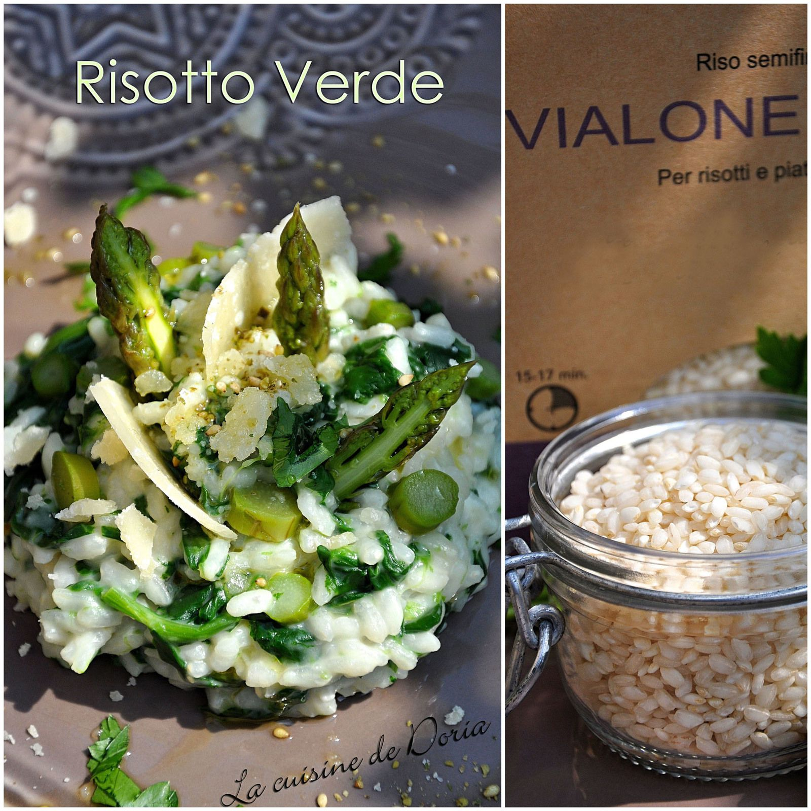 Risotto Verde aux asperges et épinards frais