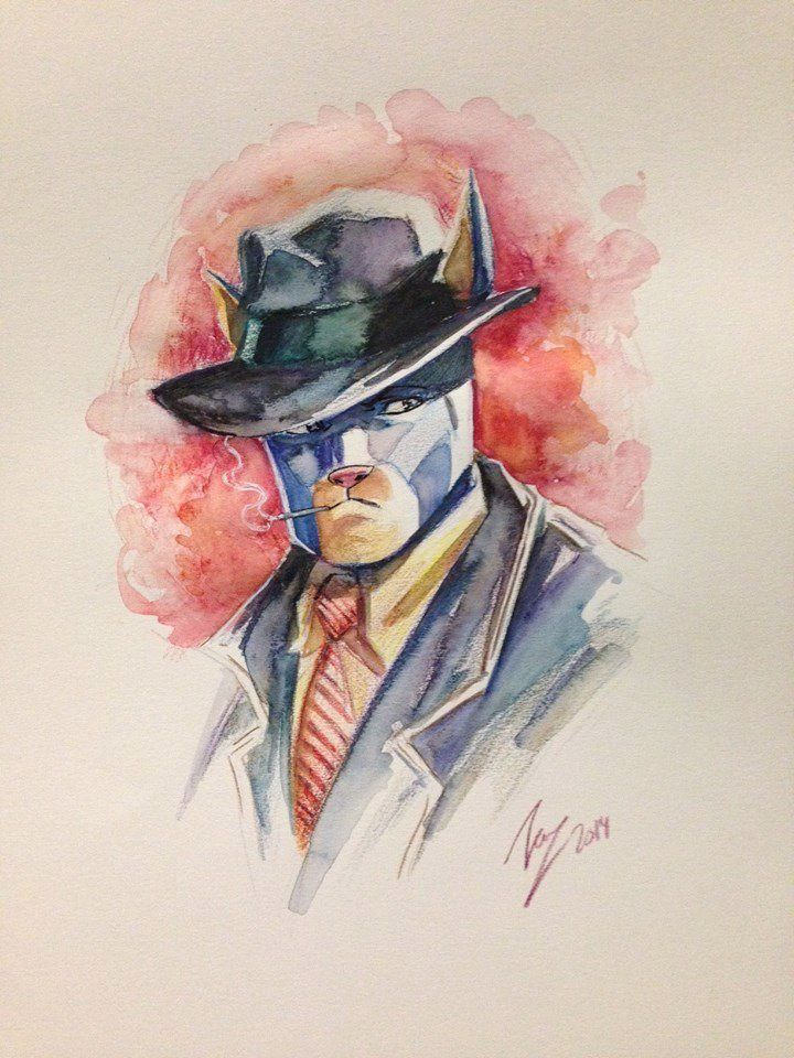 So many people are inspired by Blacksad and our project that we wanted to share their beautiful creations with everybody ! Thanks friends ! ART BY VICENTE CIFUENTES