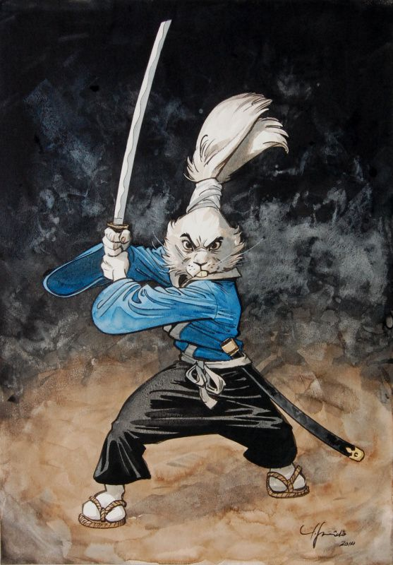 Juanjo Guarnido (Blacksad) tribute to Stan Sakai's Usagi Yojimbo