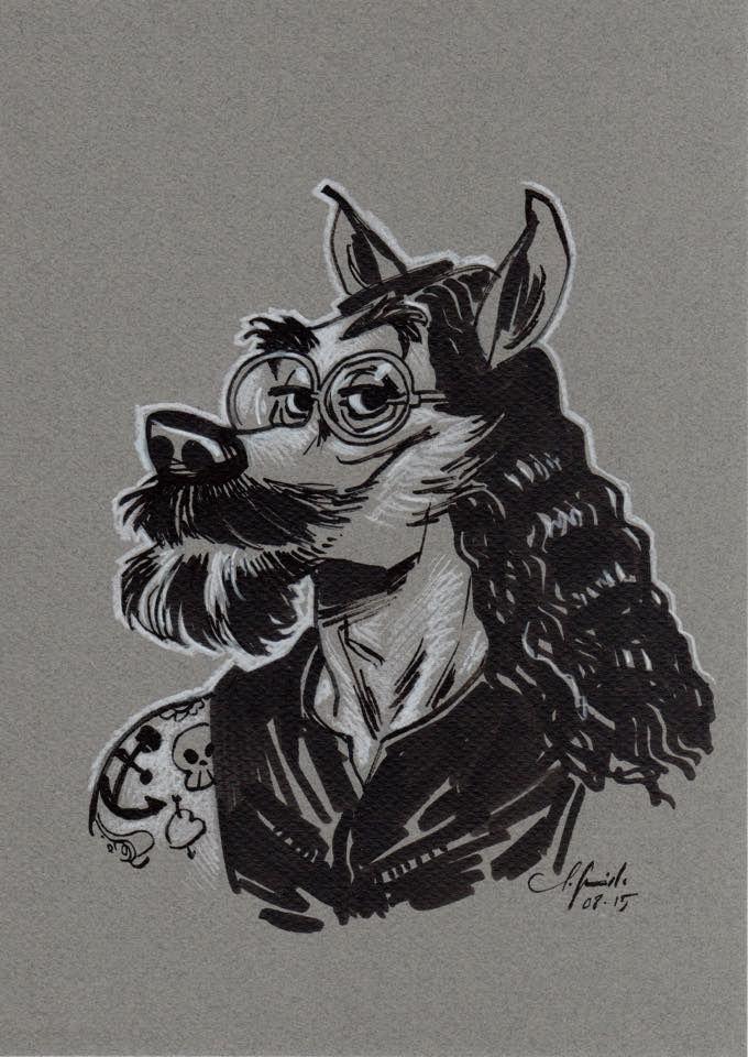 Pardonne-moi, mon gaillard, d'avoir attendu jusque-là pour te faire ce dessin... Quel vide tu laisses, cher ami. J.Guarnido