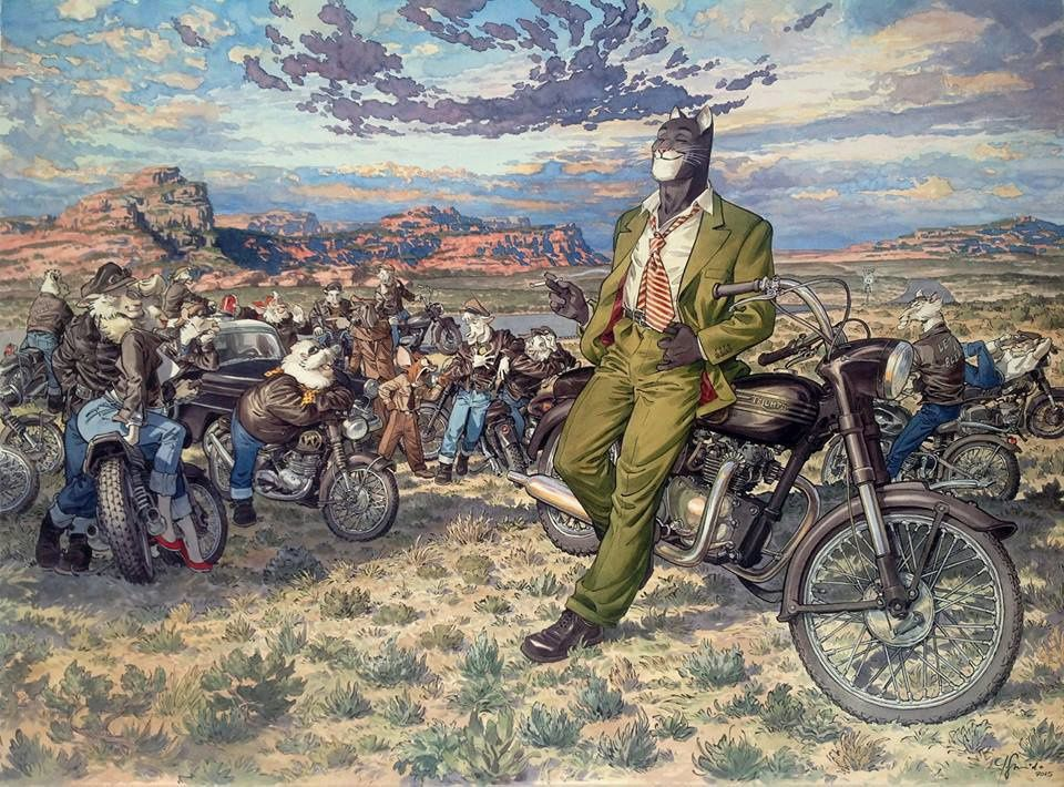 "Affiche d'art Blacksad ""Amarillo's road"" - Juanjo Guarnido"