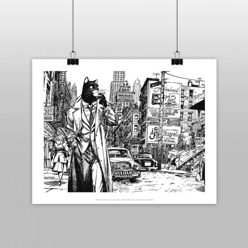 Affiche Blacksad city Black And WHITE @ Zigzag Editions
