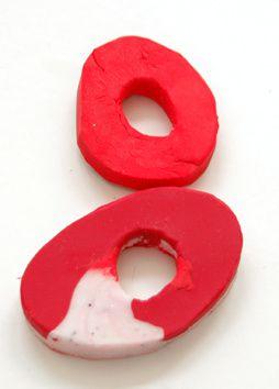 Urformen als Vorlage für Silikonformen: (Bubbles) Blasen-Perlen, Hornstein-Scheiben in groß, Keile in groß, Wulst-Perlen, Ring-Perlen