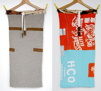 """Smith & Jones"", Wollstrick, Upcycling-T-Shirts, Leder, Fellimitat"