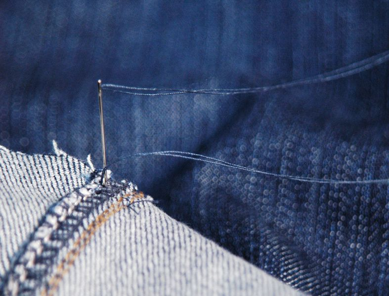 DIY: cropped Jeans