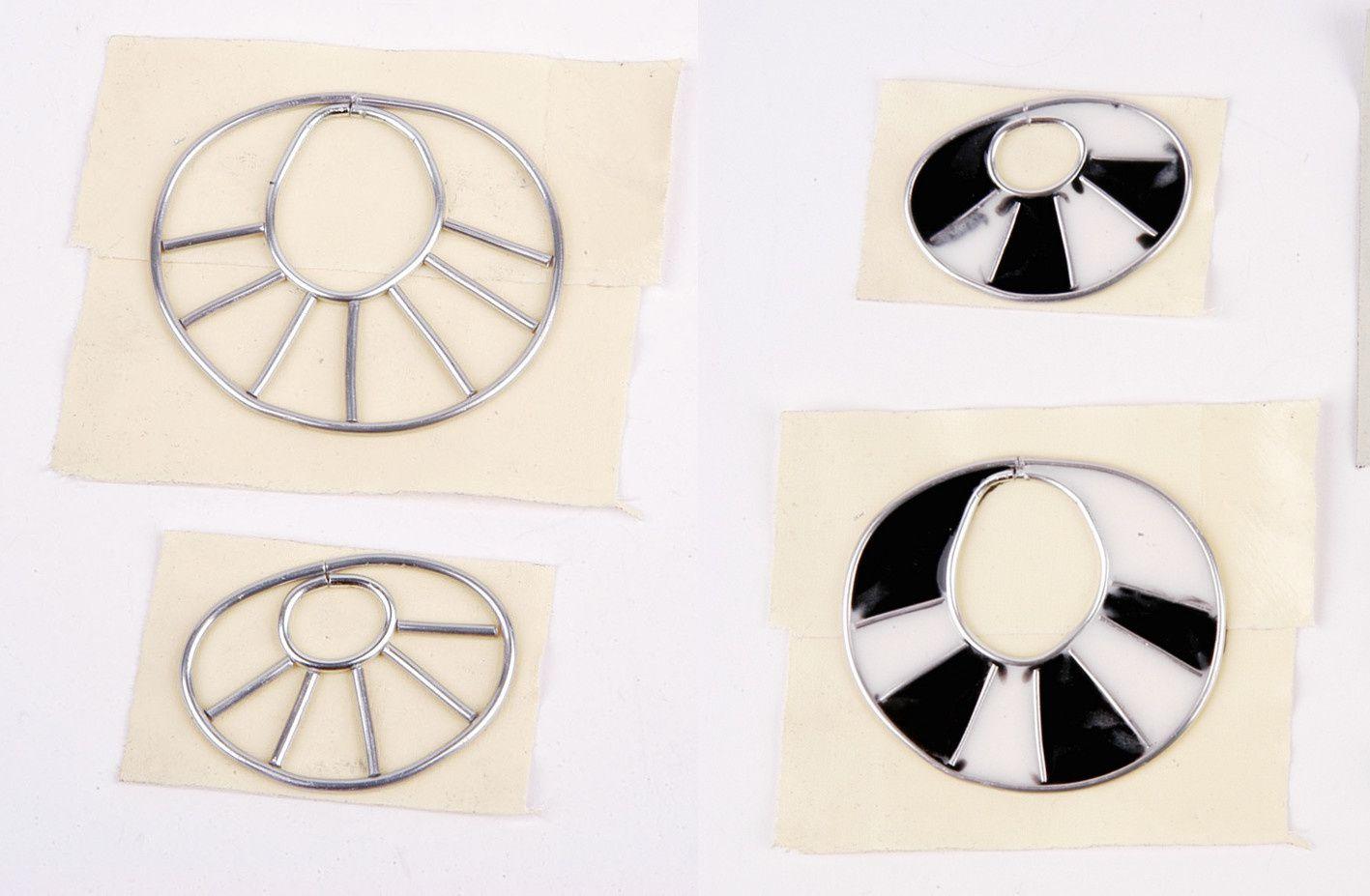 DIY Ohrringe aus Kunstharz und Aluminiumdraht_II_OHNE SILIKONFORM