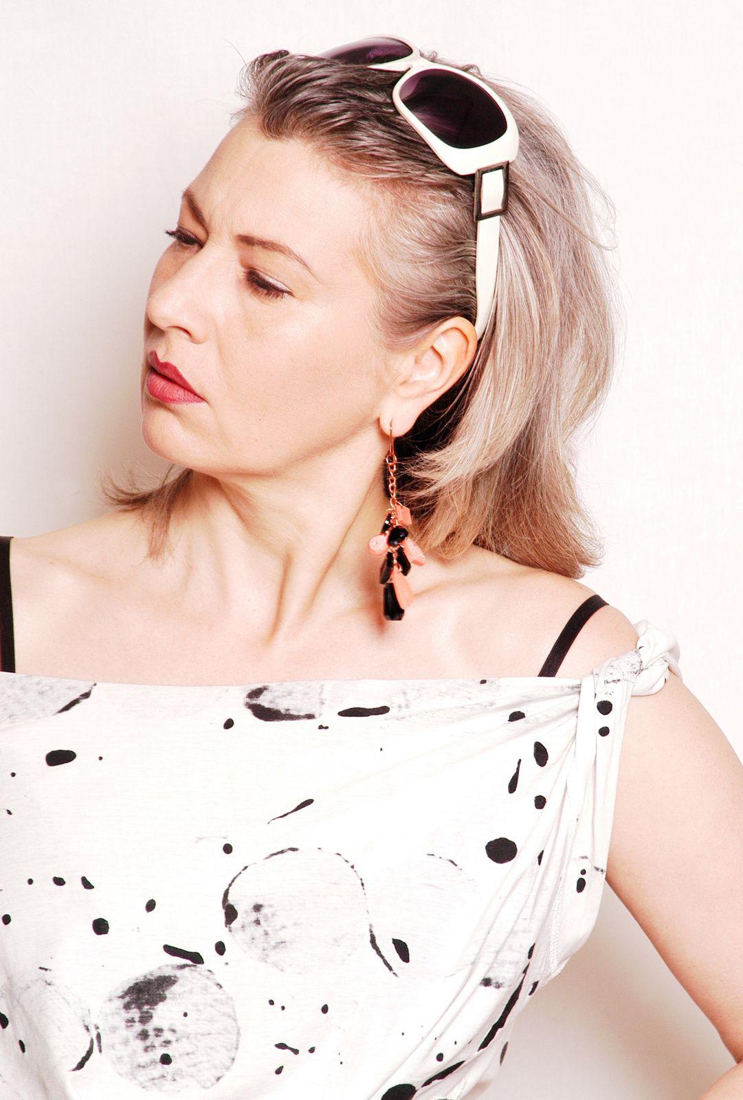 DIY Klunker-Ohrringe aus Kunstharz