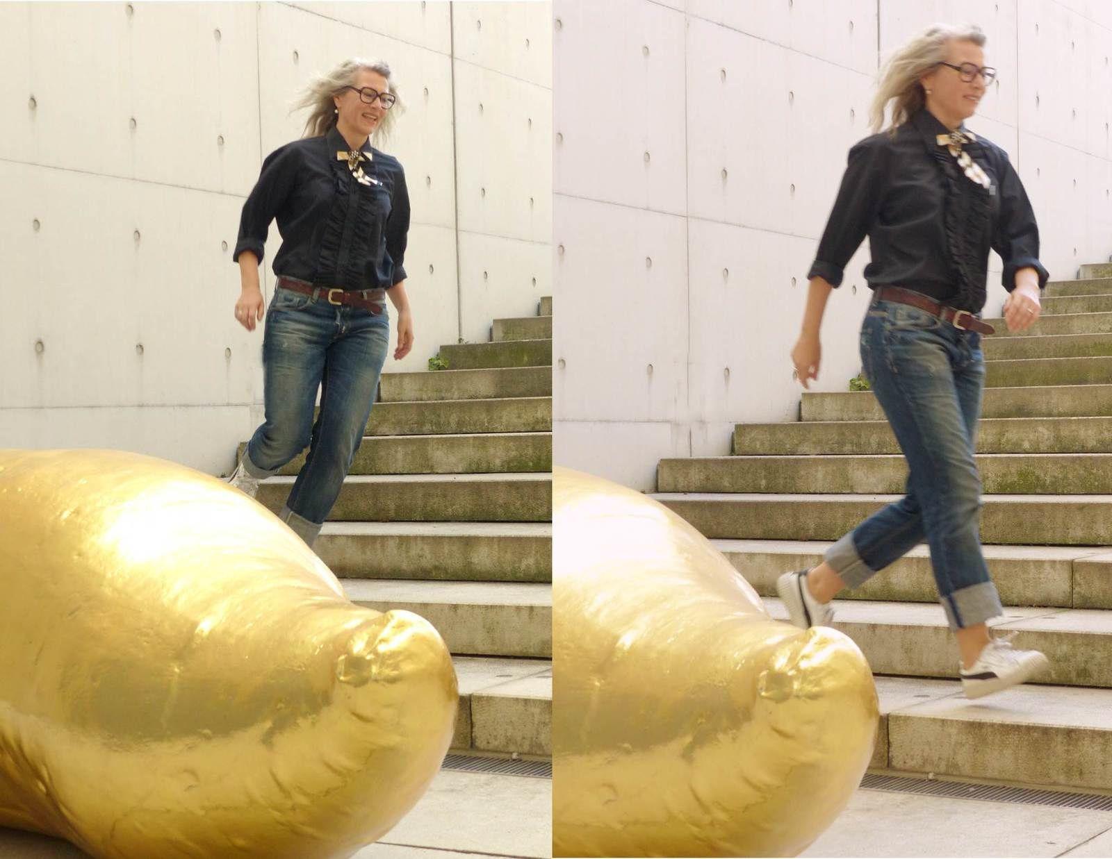 Adventskalendertürchen, how to wear a Schleifenbrosche, Blicke und goldene Ungetüme