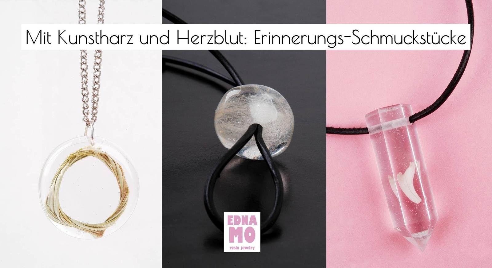 Mit Kunstharz und Herzblut -  Erinnerungsstücke in Kunstharz (Grasring, Fell und Milchzahn)