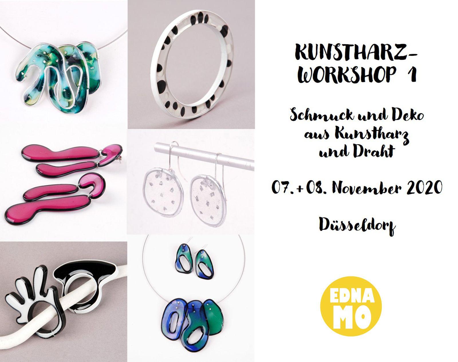 Kunstharz-Workshop in Düsseldorf am 07.+ 08.11.2020 von Edna Mo