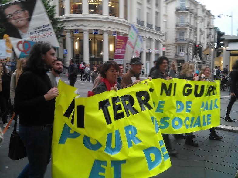 Photos de la marche pour la Paix (Nice)