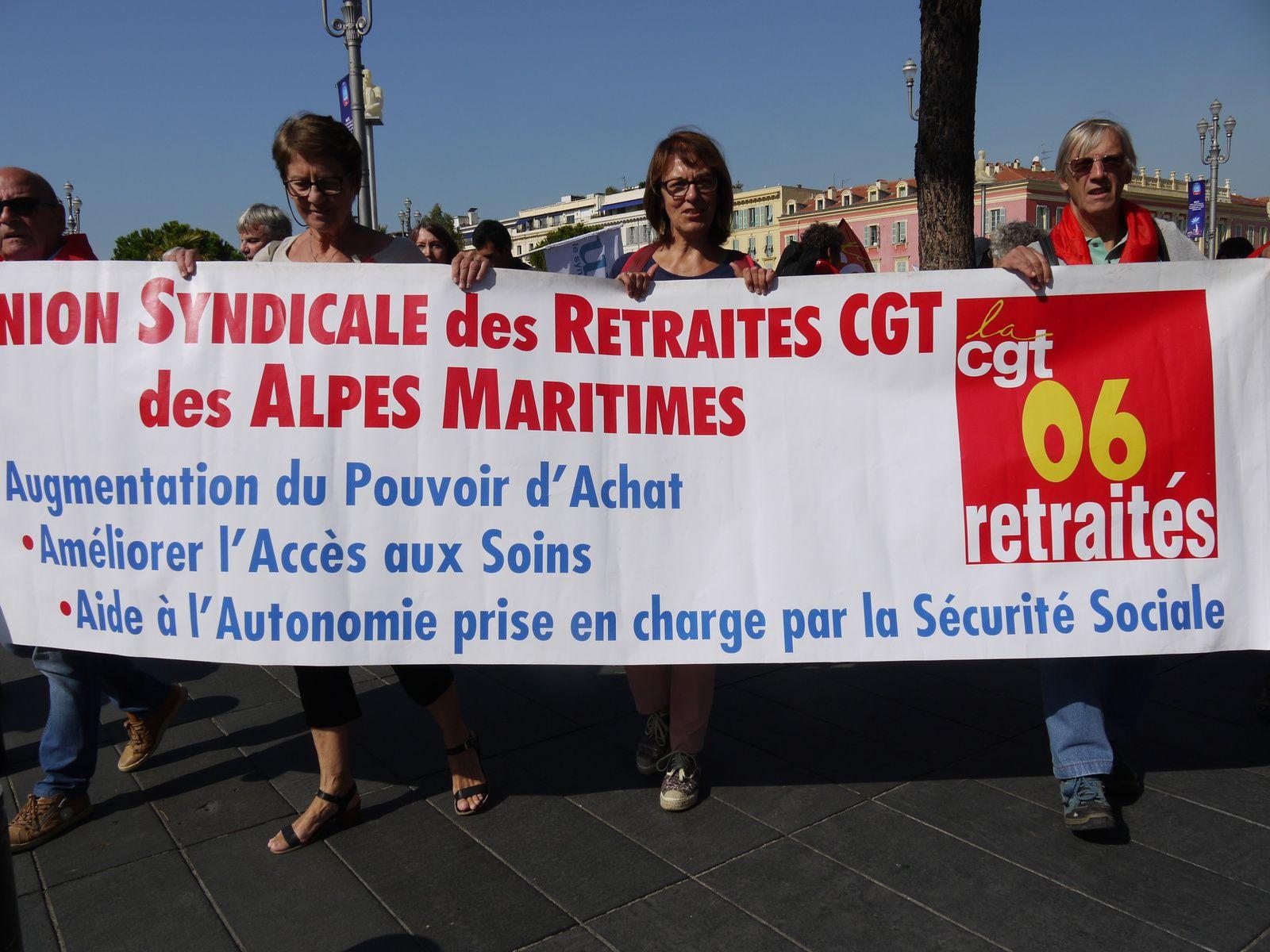 Retraité-e-s: La manif de Nice en images