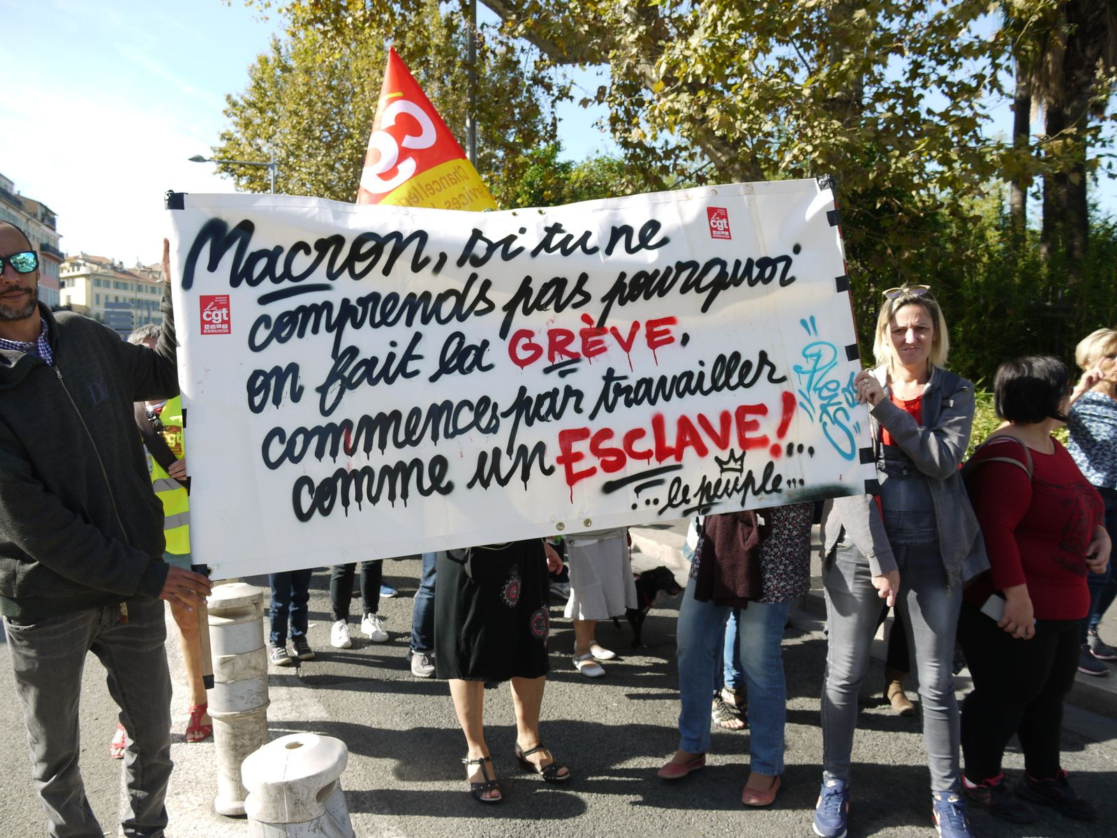La manif du 10 octobre à Nice en 30 photos