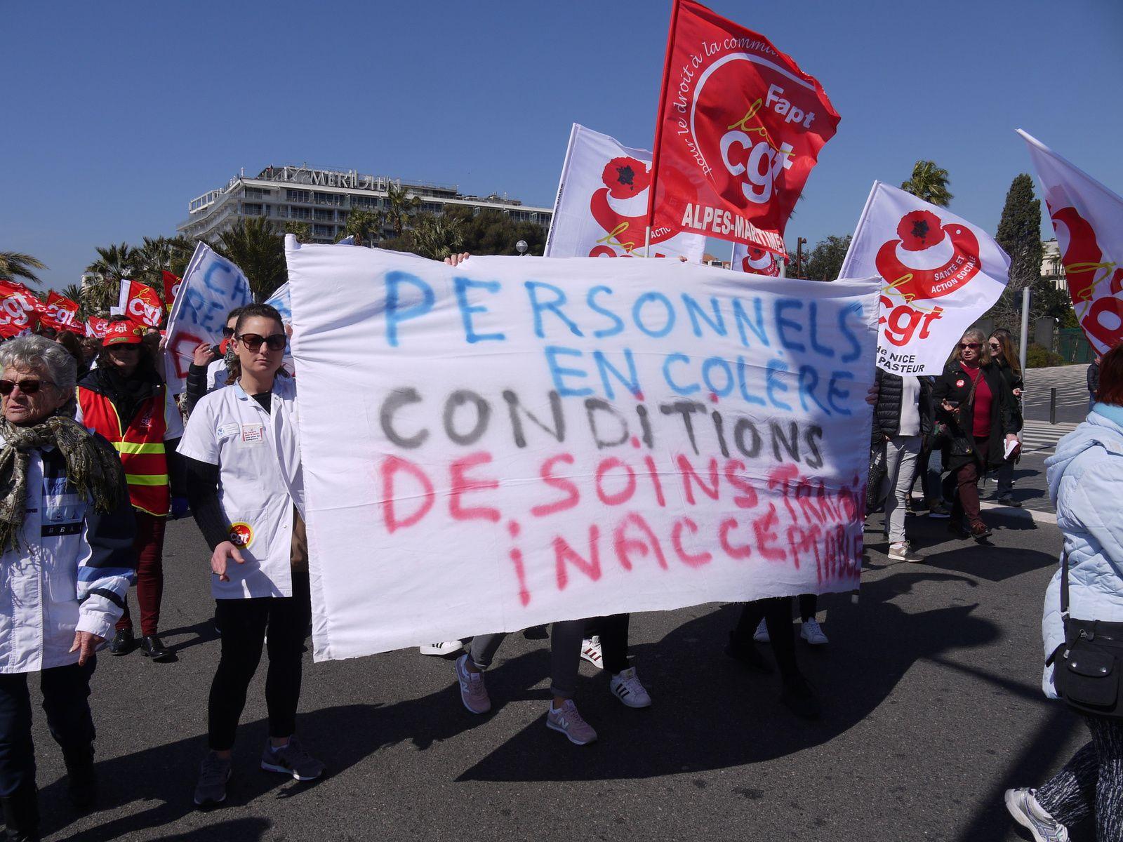 La manif du 22 mars à Nice en images...