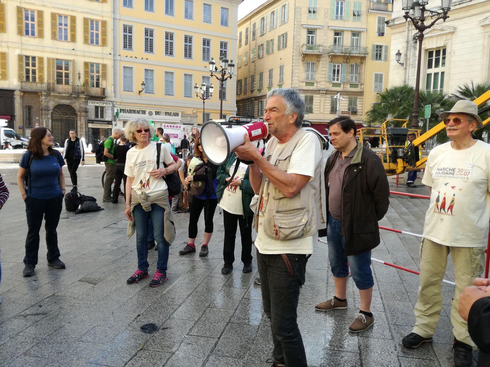 La marche solidaire avec les Migrant.e.s à Nice (Photo)