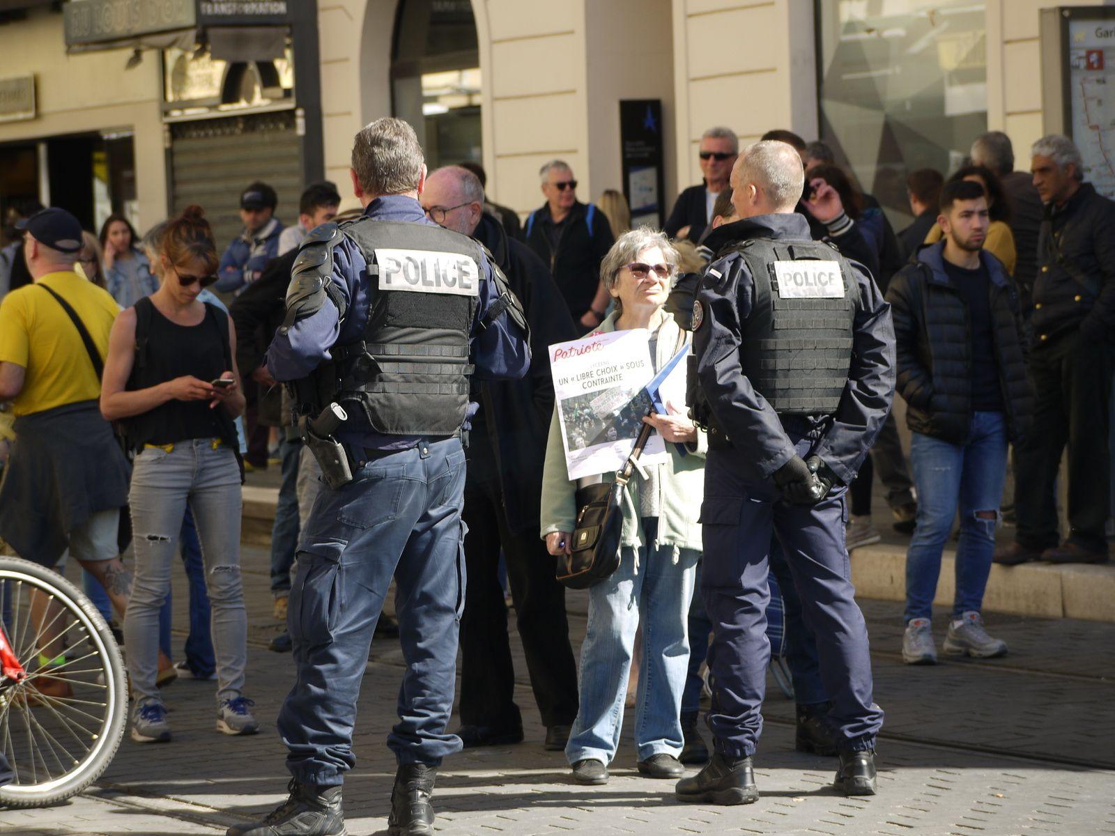 23 mars, photos des manifestations à Nice.