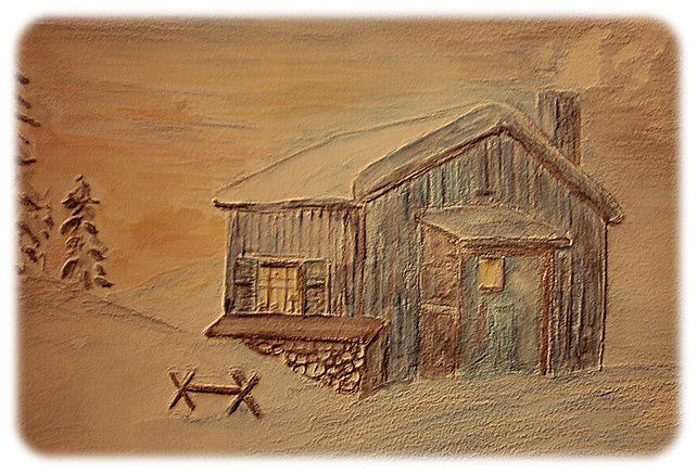 toit et chaleur pout tous_ brigitte_crayons aquarellables