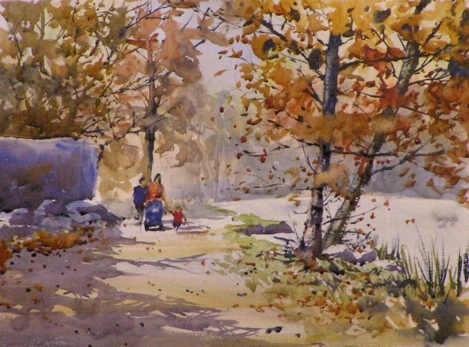 arbre à l'aquarelle - Grahame BOOTH