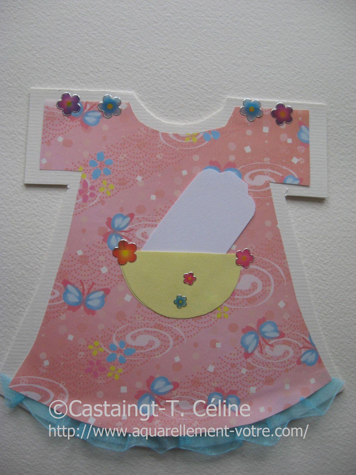 carte fille papillon bleu