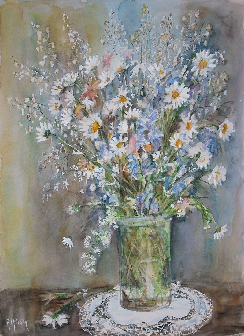 bouquet champêtre_Martine_aquarelle