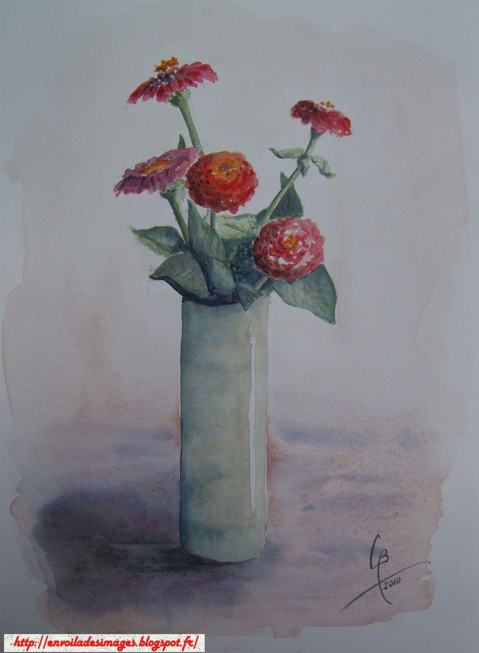bouquet vase_Claude_aquarelle (travail sec)