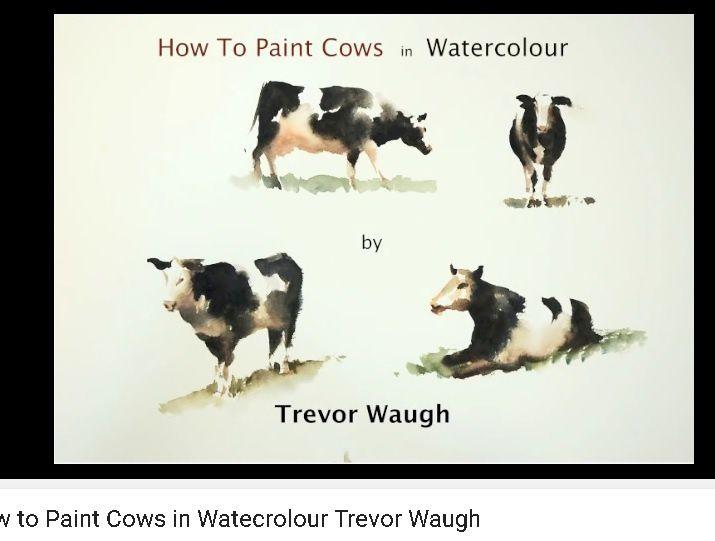vaches à l'aquarelle