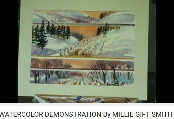 paysage de neige - Millie Gift Smith