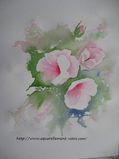 bouquet rose - pas à pas