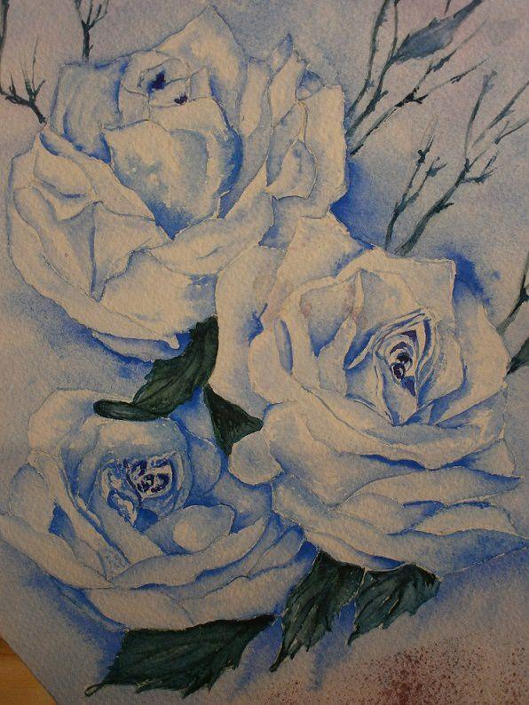 Blanc ourlé de bleu_Mado_aquarelle