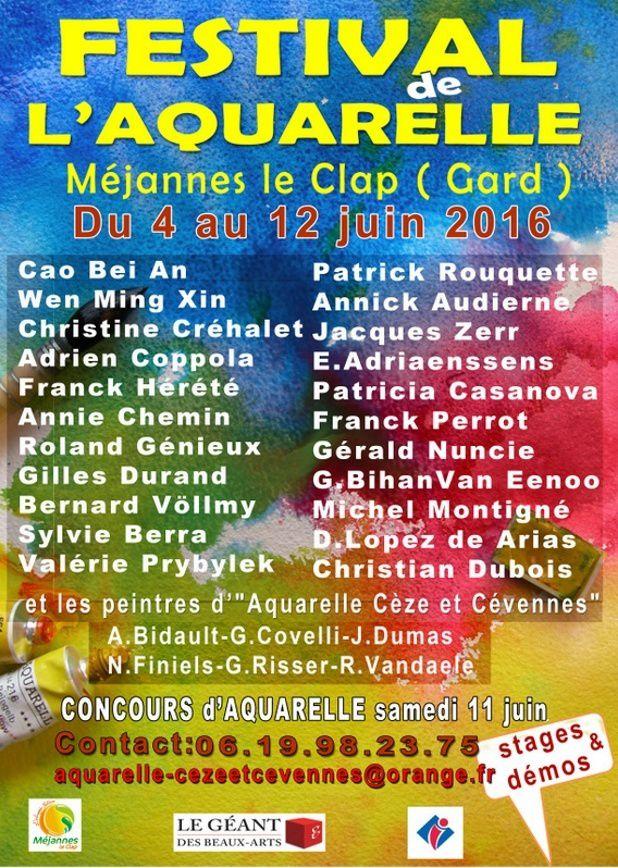 festival aquarelle Méjanne le Clap (30)