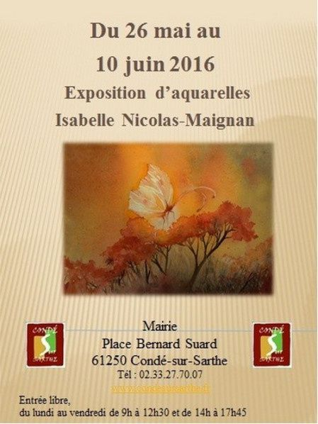 Isabelle Nicolas Maignan expose à Condé sur Sarthe (61)
