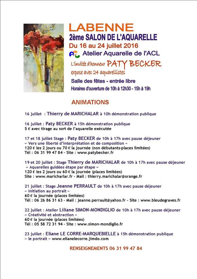 2ème salon aquarelle à Labenne (40)