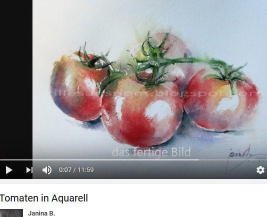 Tomates à l'aquarelle