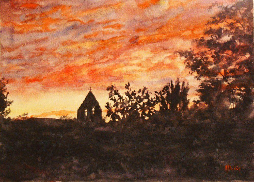 couchers de soleil_Martine_aquarelle