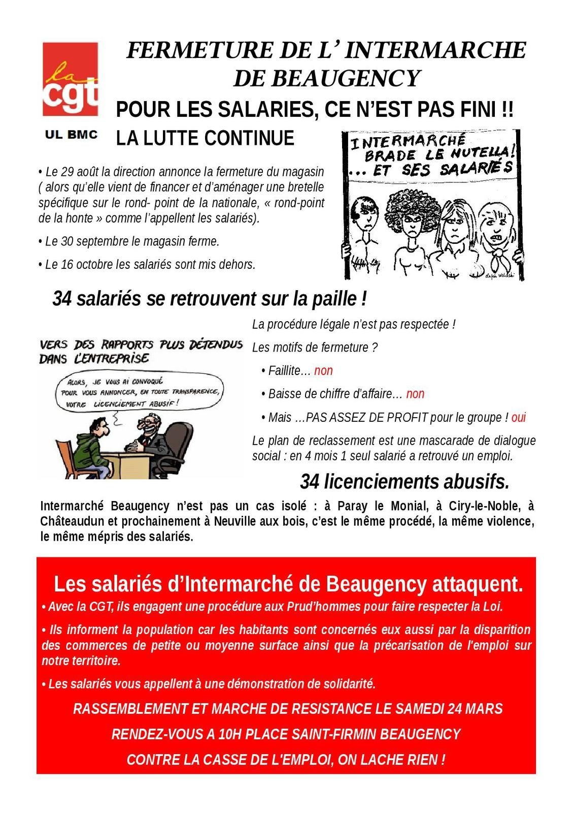 INTERMARCHE BEAUGENCY CGT