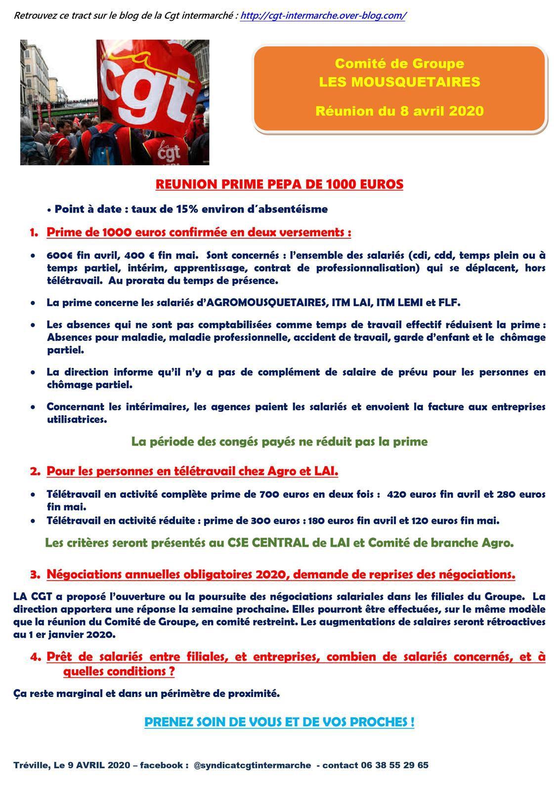 PRIME #PEPA DE 1000 EUROS GROUPE #INTERMARCHE