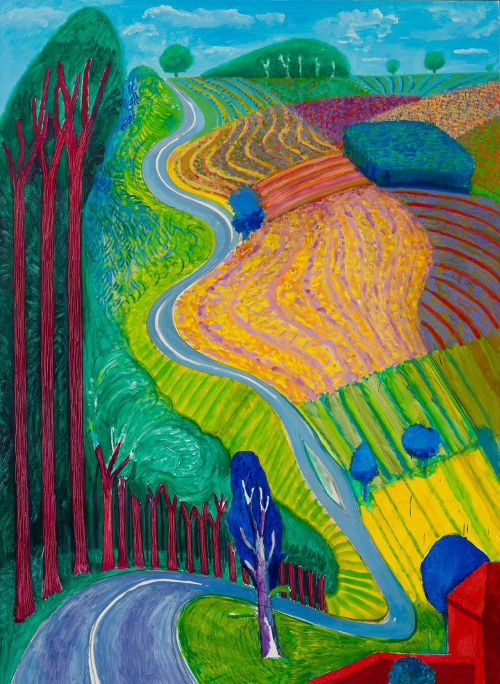 Gowing Up Garrowby Hill, 2000, 213,5 X 152,5, Topanga Canyon. Collection privée.