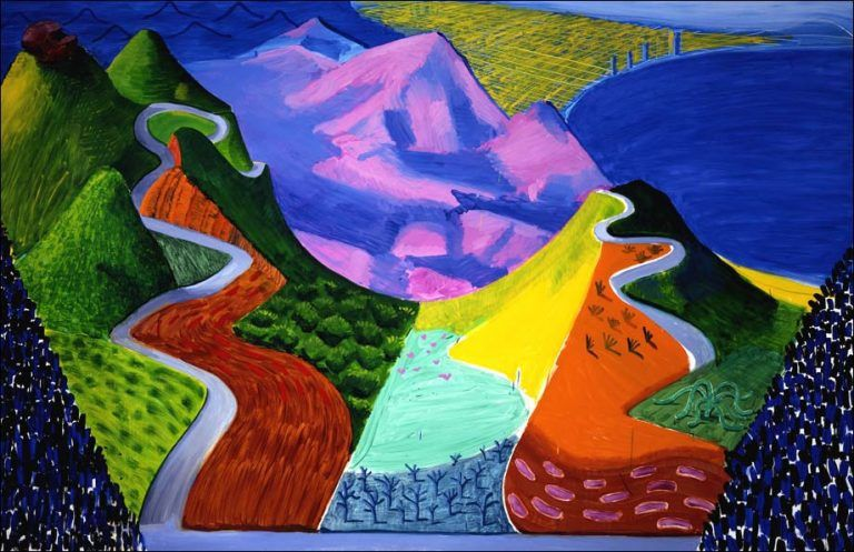 Pacific Coast Highway and Santa Monica, 1990, 198 X 305. Collection privée.
