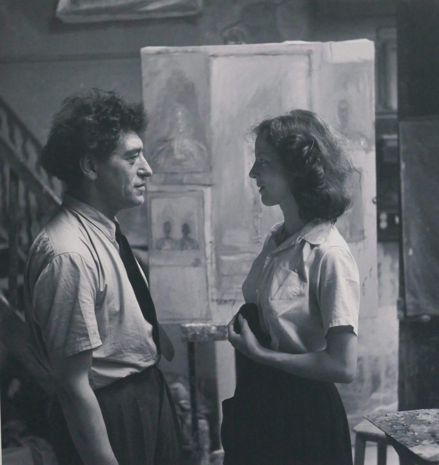 Giacometti et Annette, compagne, modèle, assistante, muse.