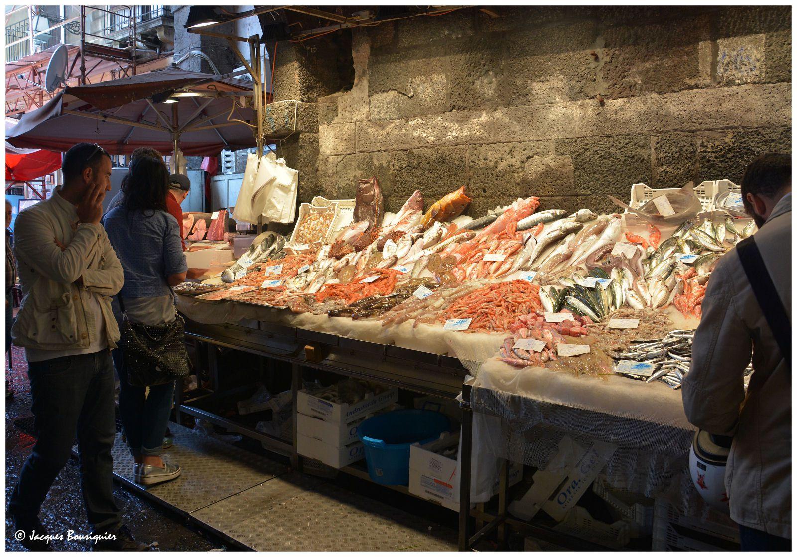 Catane, le marché aux poissons