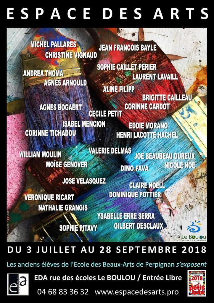 les anciens étudiants de l'Ecole des Beaux-Arts de Perpignan S'exposent  à l'espace des arts au boulou 2018