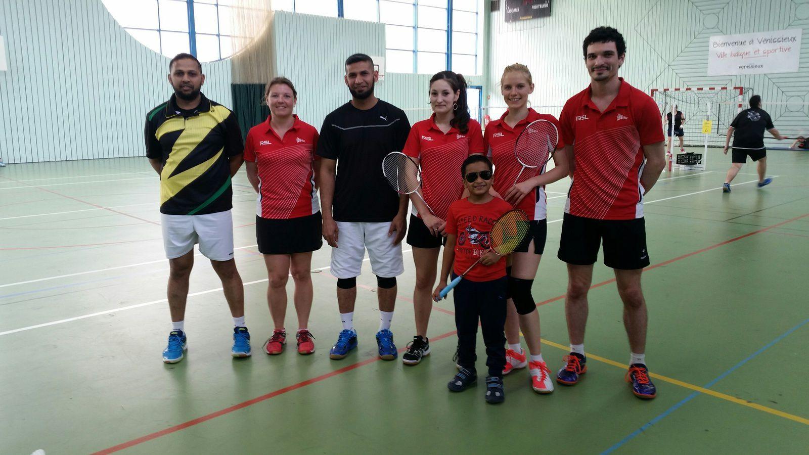 L'équipe fanion  du Badminton Vénissieux Sud-Est - Photo: @BVSE