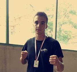 Mathieu Greco (BKD) médaille de bronze à la première Coupe de France de karaté Mix