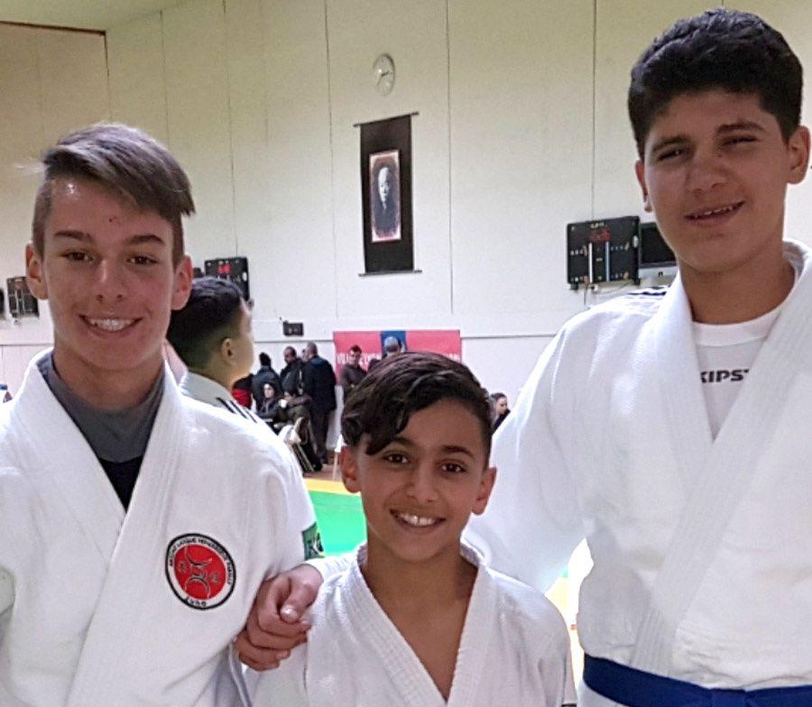 Lucas, Youssef et Kahil qualifiés pour les championnats minimes du Rhône FFJDA - Photo : © ALVP Judo