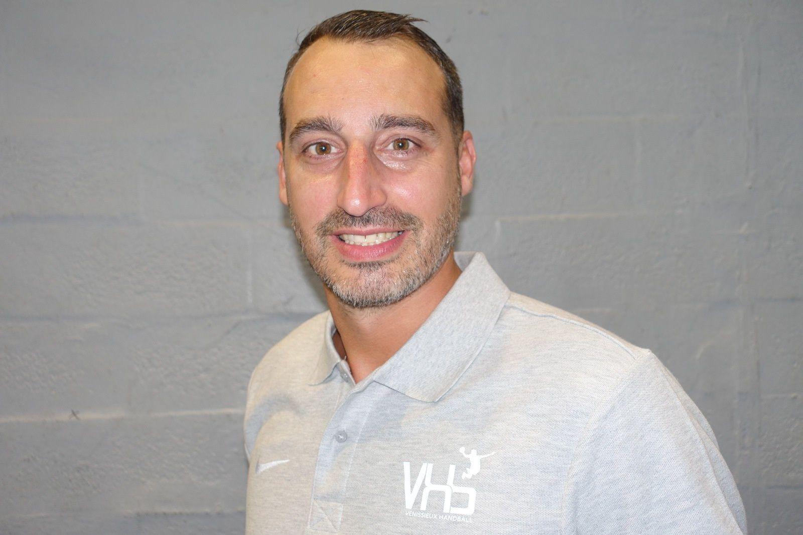 Olivier Odisio entraîneur de Vénissieux Handball