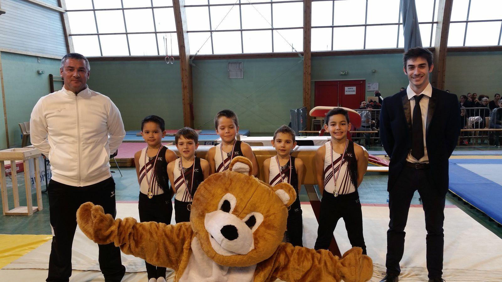 Bons résultats des catégories jeunes du CMOV Gymnastique