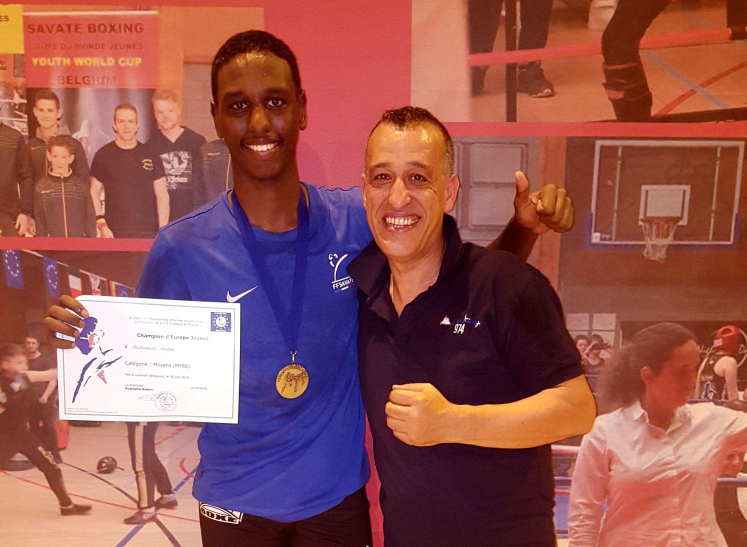 Le jeune cadet de Vénissieux Boxe Française est devenu champion d'Europe de la catégorie M80